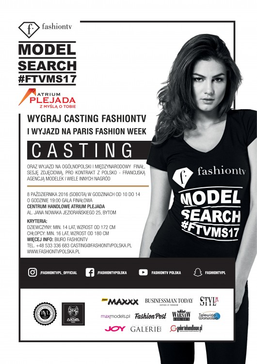 Fashiontv Model Search 2017  - Bytom