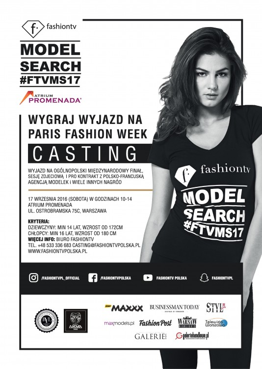 Ruszają castingi do Fashion TV Model Search 2017