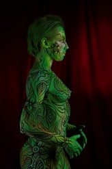"adiemus1 ""Green Warrior"" - bodypainting"