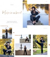"Na-drabinie publikacja ELEGANT Magazine, December 2019, edytorial ""Muse in a beret"""