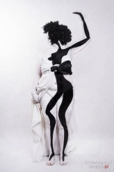 Czarna-art                             bodypainting, black and white