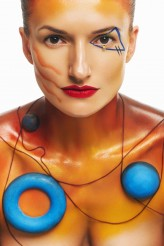 anmakeup Beyond reality inspired by Wassily Kandinsky