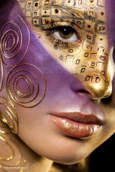 anmakeup Beauty inspired by famous painters - Gustav Klimt