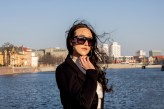 losiax                             #fashion #city #center #wrocław #river #buildings #sun #glasses #white #blue #brunett #model #sky