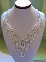 DecoArtMag Wedding necklace  from guipure lace