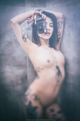 conik @capital.t.photo #tattoomodel #Bathroom #yashica #t2 #art #nude #reality_warp #Mickiewicz